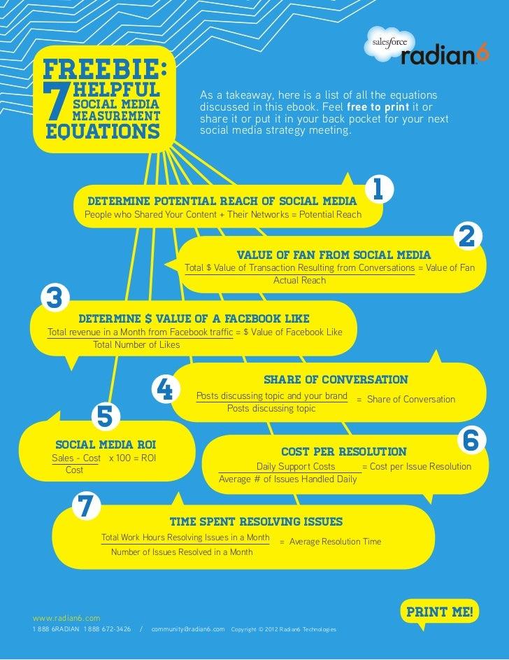 7 Helpful Social Media Equations
