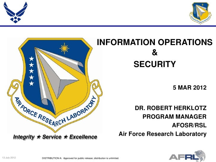 Herklotz - Information Operations & Security - Spring Review 2012