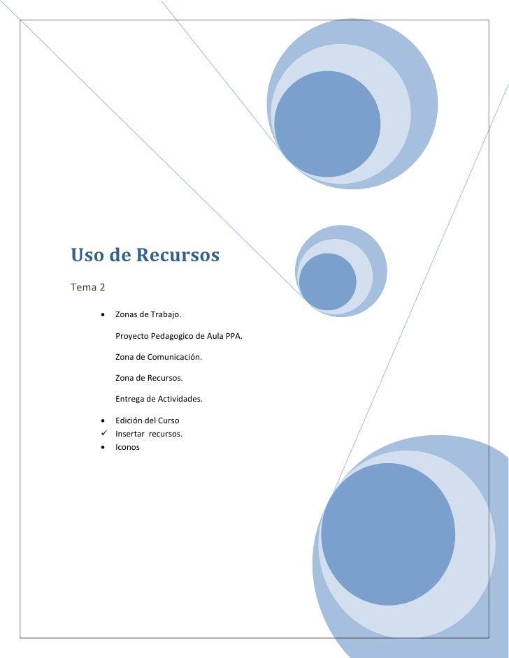 Uso de Recursos Tema 2       •   Zonas de Trabajo.           Proyecto Pedagogico de Aula PPA.           Zona de Comunicaci...
