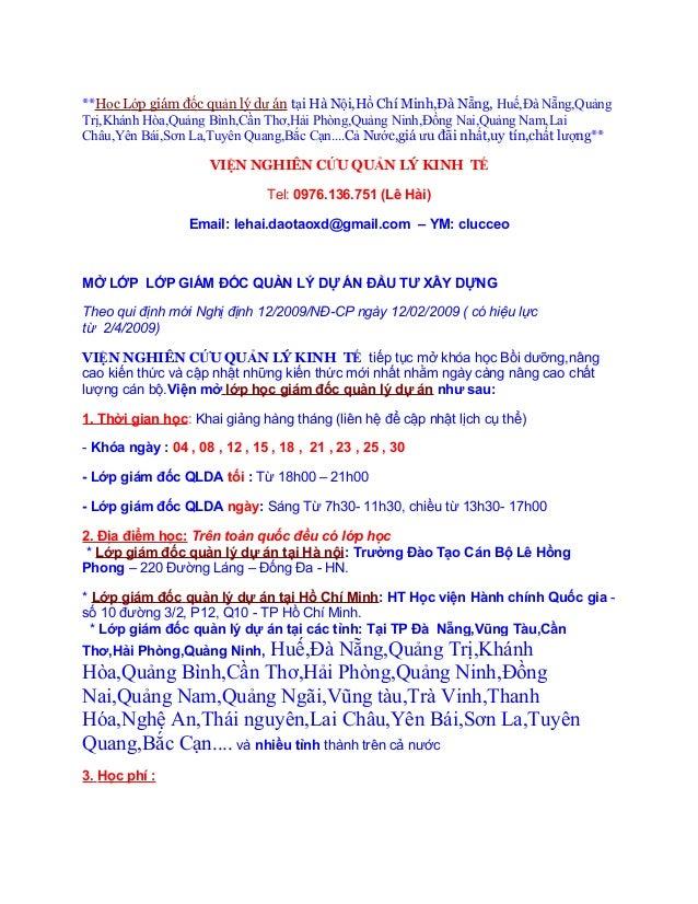 **Học Lớp giám đốc quản lý dự án tại Hà Nội,Hồ Chí Minh,Đà Nẵng, Huế,Đà Nẵng,QuảngTrị,Khánh Hòa,Quảng Bình,Cần Thơ,Hải Phò...