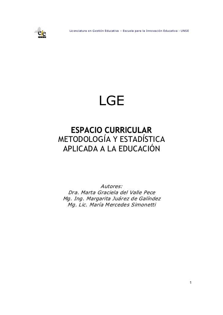 7. metodologia y estadistica aplicada a la educacion