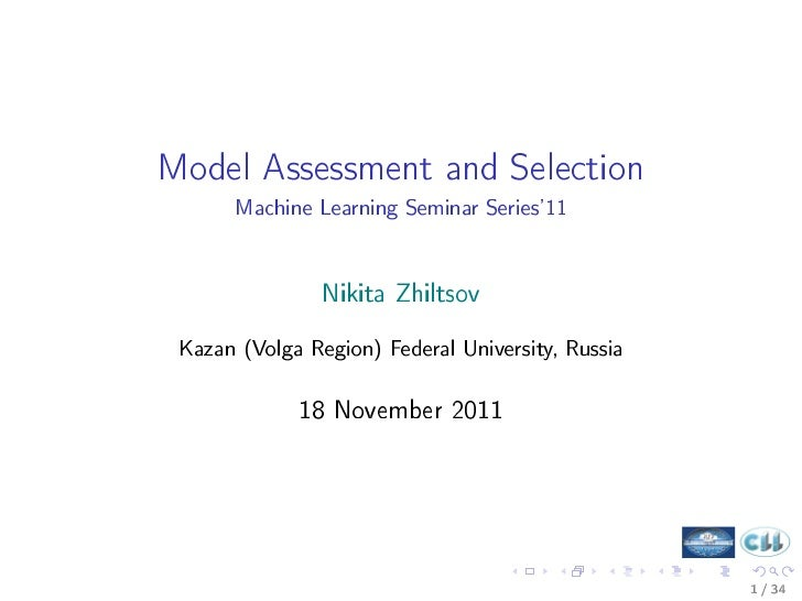 7 - Model Assessment and Selection