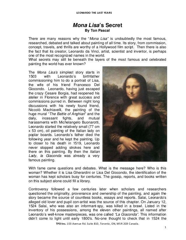 Mona Lisa's Secret by Ton Pascal