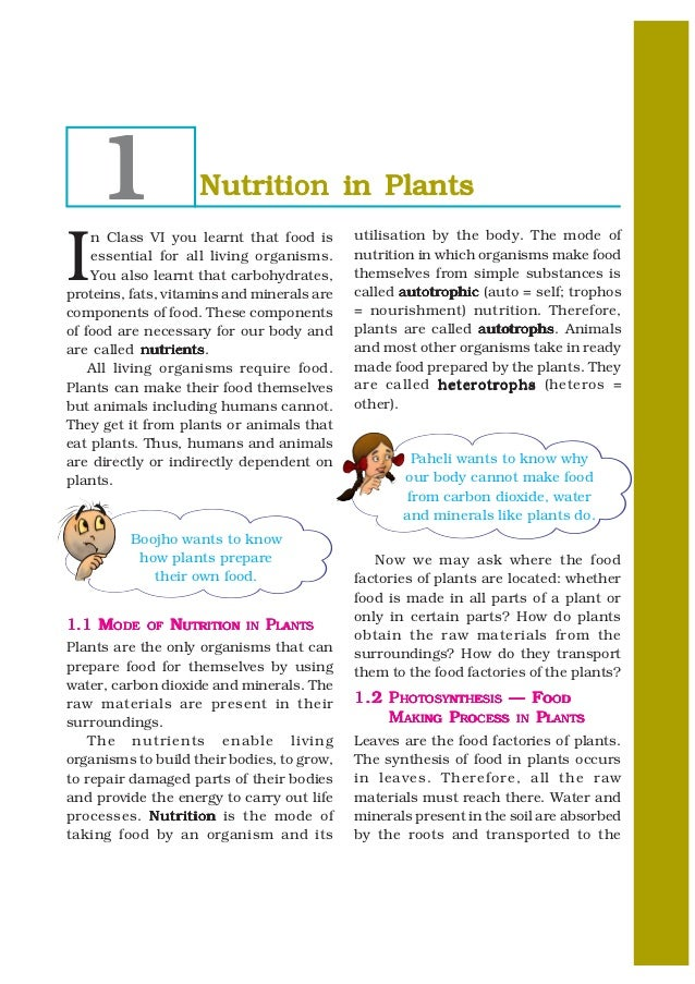 1               Nutrition in PlantsI    n Class VI you learnt that food is      utilisation by the body. The mode of    es...
