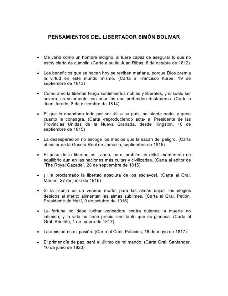 7.  Pensamientos Del Libertador   Revolucion Bolivariana   Simbolos