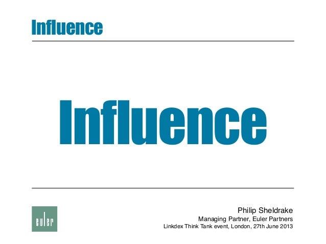 Philip Sheldrake - Influence