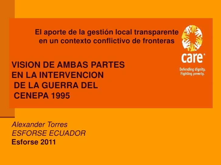 VISION DE AMBAS PARTES ECUADOR-PERU DE LA GUERRA DEL CENEPA
