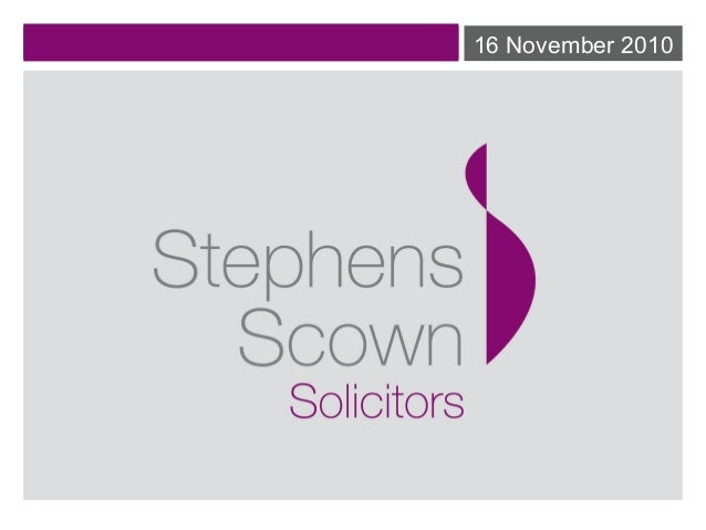 PV Pitfalls - Making it Legal. Sonya Bedford (Stephen Scowns Solicitors)