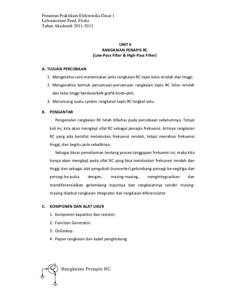 7. rangkaian penapis rc
