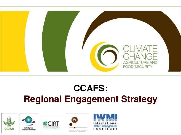 CCAFS: Regional Engagement Strategy<br />