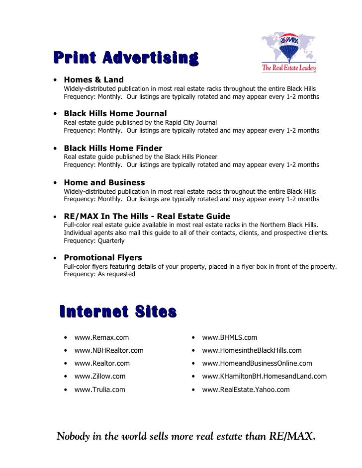 Print Advertising • Homes & Land     Widely-distributed publication in most real estate racks throughout the entire Black ...