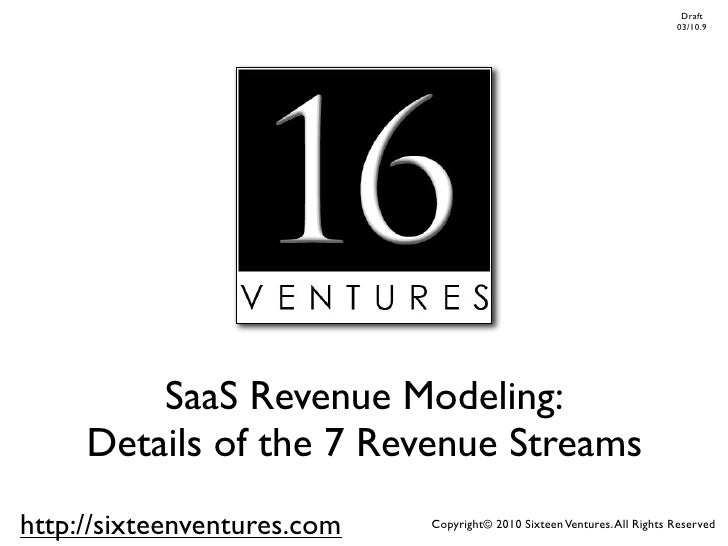 Seven SaaS Revenue Streams - Updated