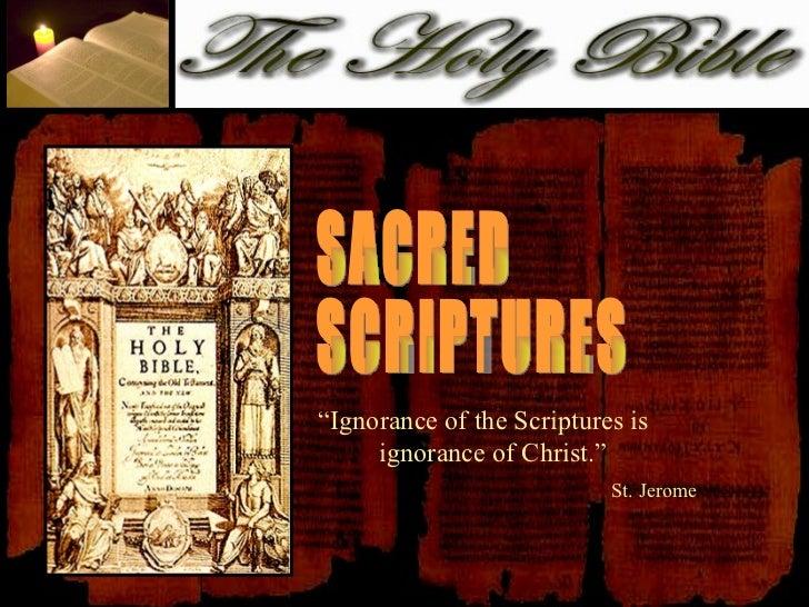 7. sacred scriptures