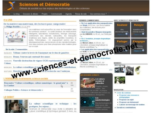 www.sciences-et-democratie.net