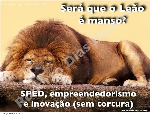 Fórum SPED POA - Será que o leão é manso? - Roberto Dias Duarte
