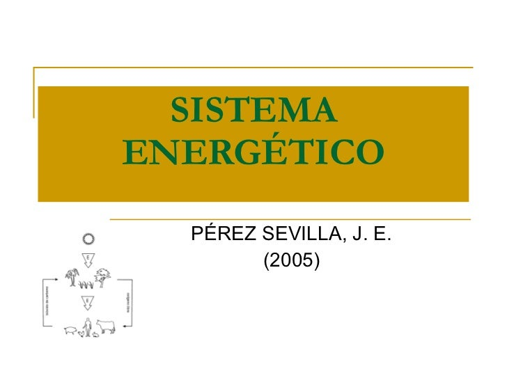 SISTEMA ENERGÉTICO PÉREZ SEVILLA, J. E. (2005)