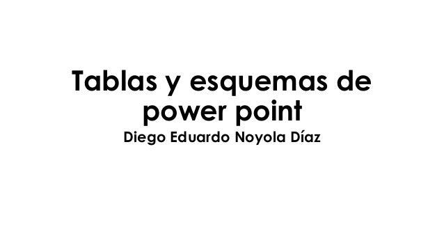 Tablas y esquemas de power point Diego Eduardo Noyola Díaz