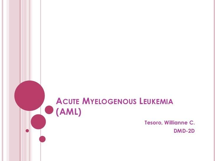 7. tesoro   acute myelogenous leukemia