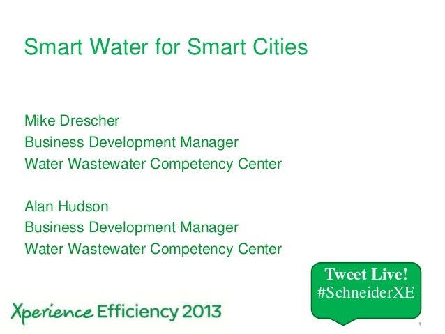 Smart water for smart cities