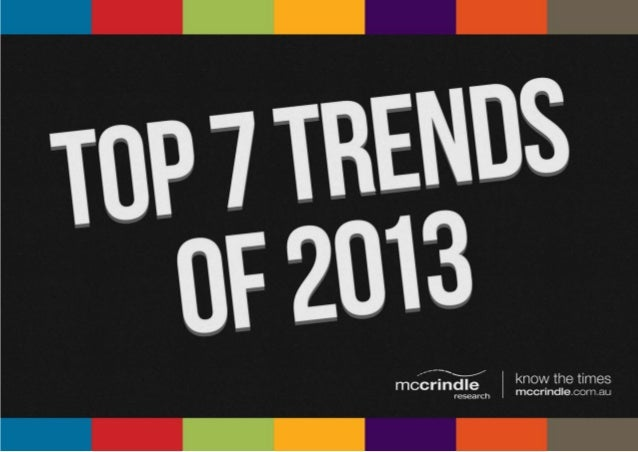 Top 7 Trends of 2013