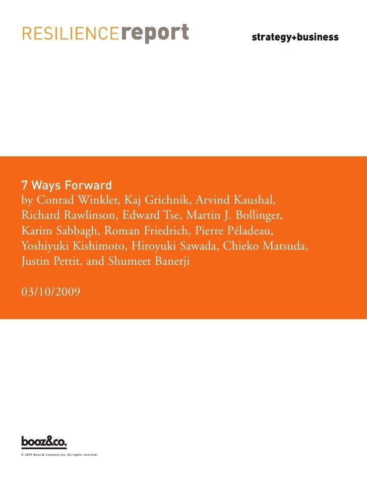 7 Ways Forward by Conrad Winkler, Kaj Grichnik, Arvind Kaushal, Richard Rawlinson, Edward Tse, Martin J. Bollinger, Karim ...