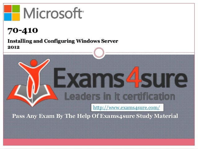 70 410 Certification Study Material