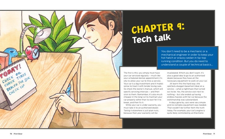 First Gear English edition, Techtalk (Chapter 09)