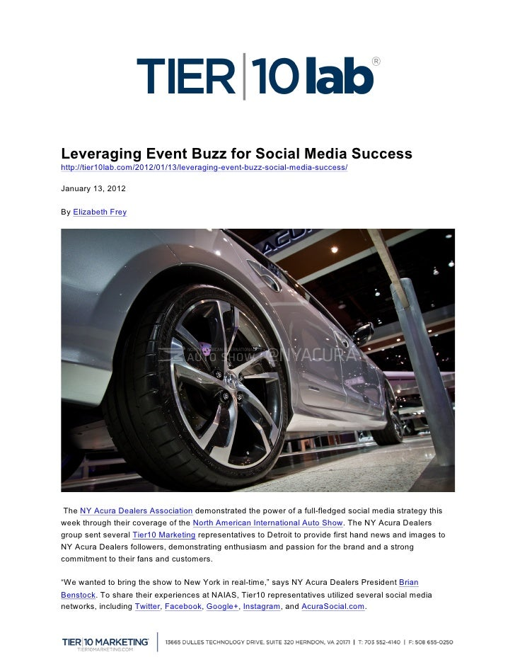 Leveraging Event Buzz for Social Media Successhttp://tier10lab.com/2012/01/13/leveraging-event-buzz-social-media-success/...