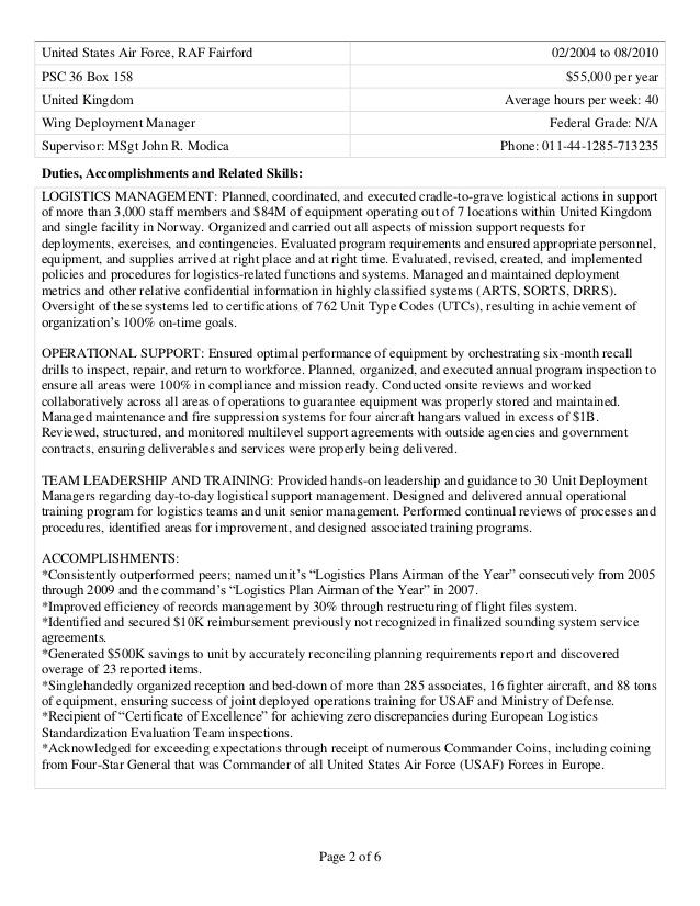 government resume builder usa