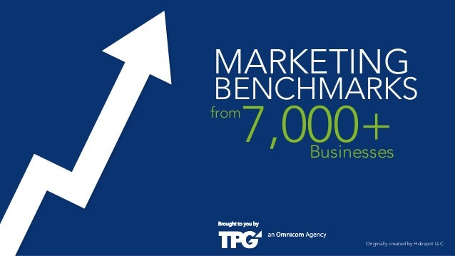 MARKETING  BENCHMARKS  from  7,000+  Businesses  Brought to you by  Originally created by Hubspot LLC