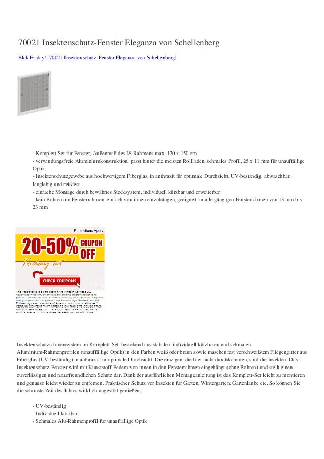 70021 Insektenschutz-Fenster Eleganza von SchellenbergBlck Friday!- 70021 Insektenschutz-Fenster Eleganza von Schellenberg...