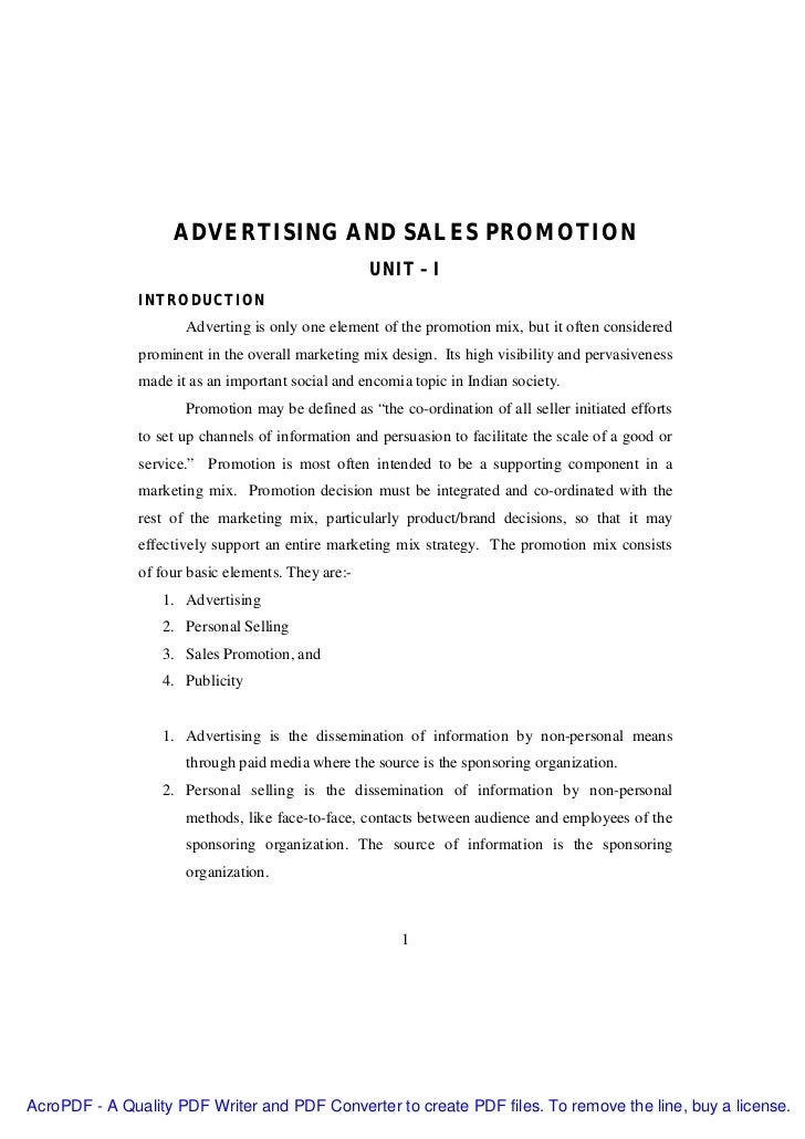 7008195 Advertising And Sales Promotion