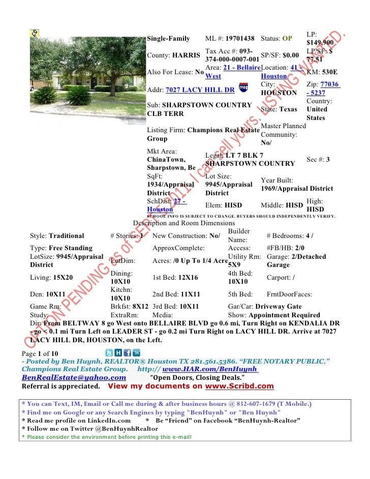 LP:                                             Single-Family        ML #: 19701438 Status: OP                            ...