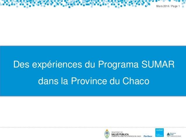 Annual Results and Impact Evaluation Workshop for RBF - Day Seven - Des expériences du Programa Sumar dans la Province du Chaco