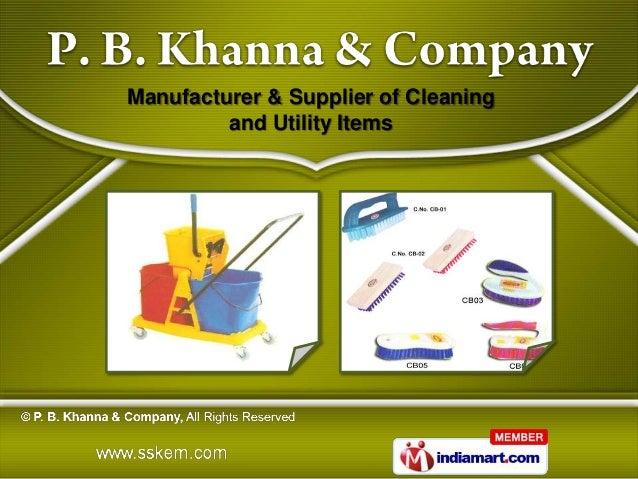 P. B. Khanna and Company Delhi India