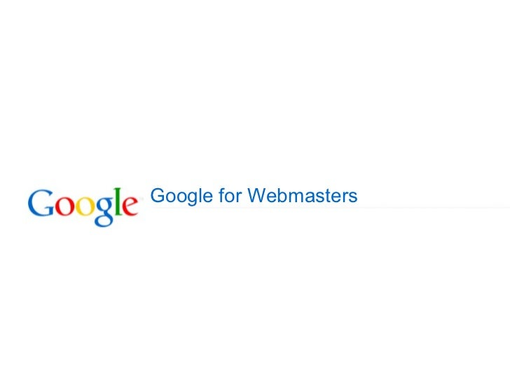 annachbiz - Tutorial: Google for Webmasters