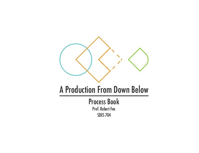 A Production From Down Below Process Book Prof. Robert Fee SDES 704