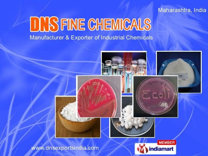 Maharashtra, India Manufacturer & Exporter of Industrial Chemicals