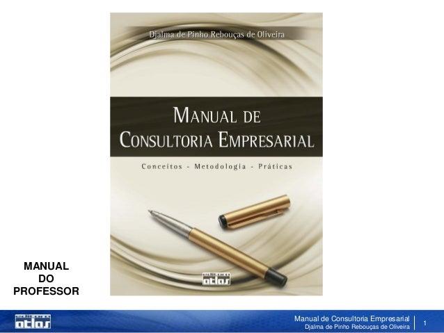 MANUAL   DOPROFESSOR            Manual de Consultoria Empresarial              Djalma de Pinho Rebouças de Oliveira       ...