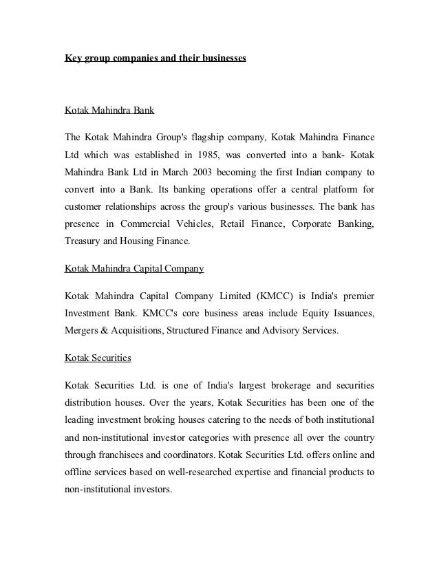 swot analysis of kotak mahindra bank Bcg matrix of kotak bank kotak mahindra bank limited (kotakbank) - financial and strategic swot analysis review provides you an in-depth strategic swot analysis of the company's businesses and operations.