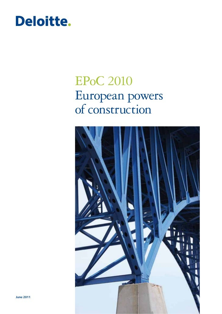 EPoC 2010. European powers of construction
