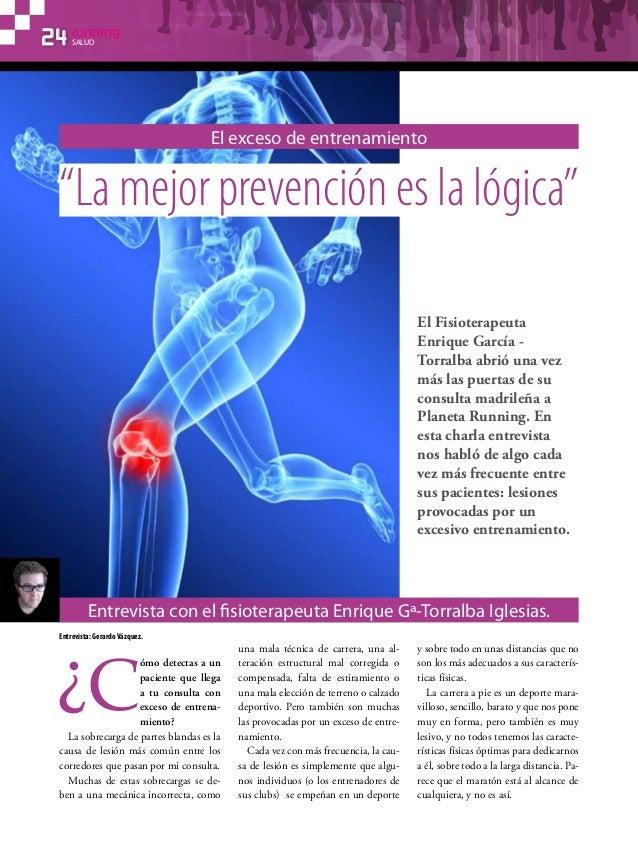 El exceso de entrenamiento. Entrevista con el Fisioterapeuta Enrique Gª-Torralba Iglesias. (Planeta Running).
