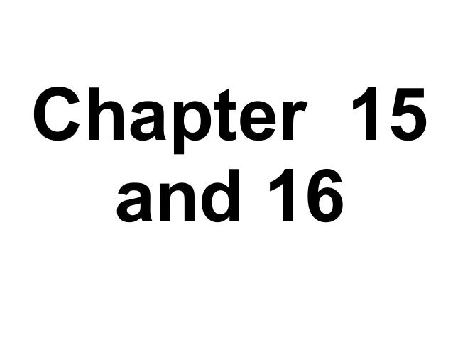 Chapter 15 and 16 questions and answers GCE OCR ADVANCING