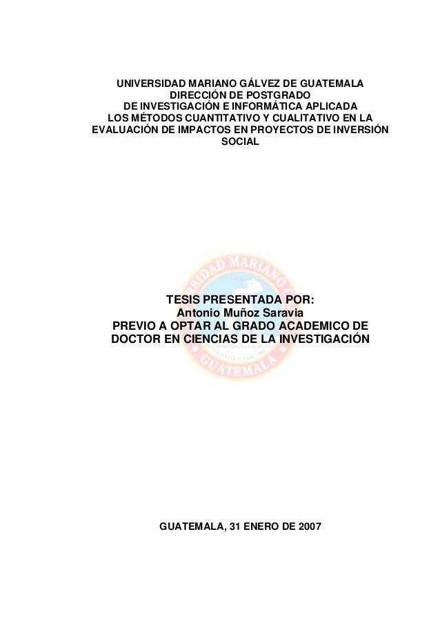 UNIVERSIDAD MARIANO GÁLVEZ DE GUATEMALA             DIRECCIÓN DE POSTGRADO     DE INVESTIGACIÓN E INFORMÁTICA APLICADA  LO...
