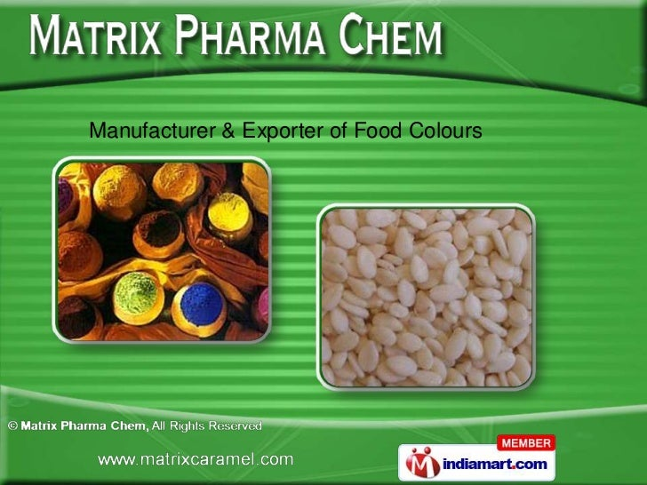 Manufacturer & Exporter of Food Colours