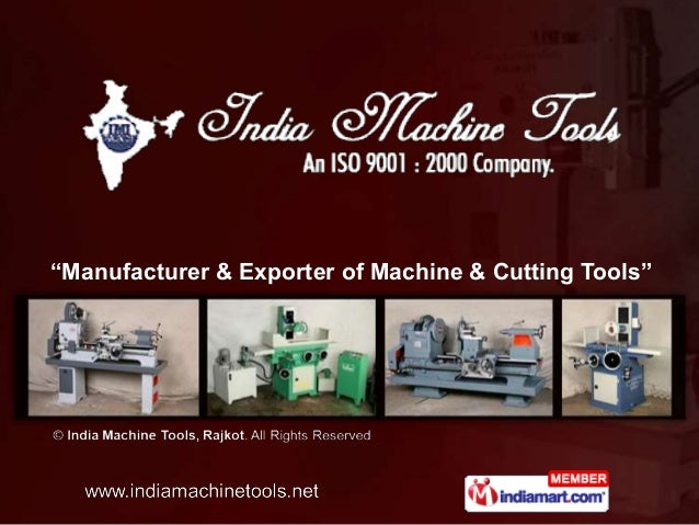 """Manufacturer & Exporter of Machine & Cutting Tools"""