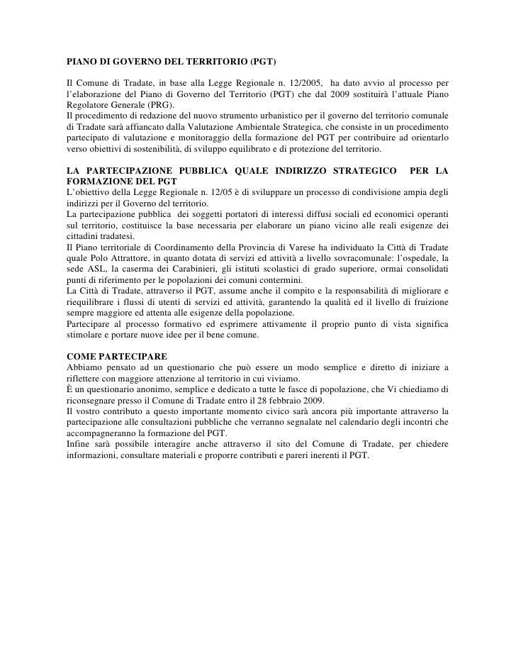 Questionario PGT