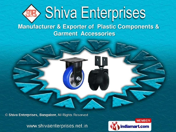 Manufacturer & Exporter of Plastic Components &           Garment Accessories