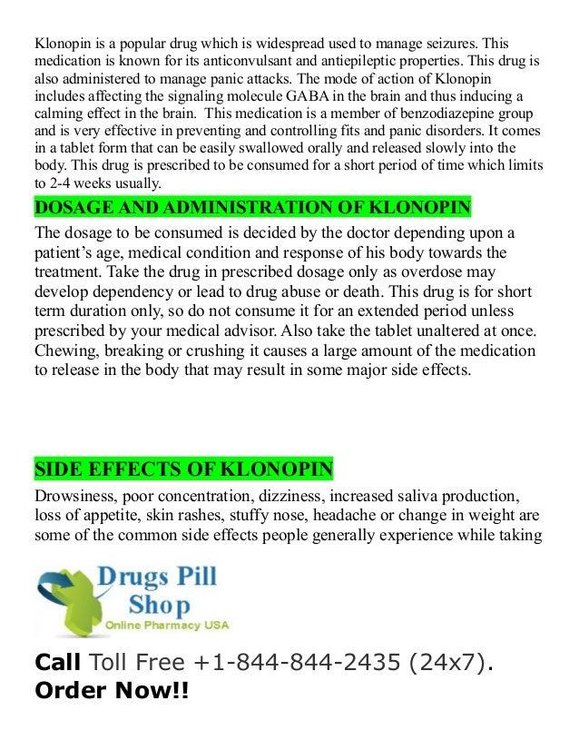 Buy klonopin online cod