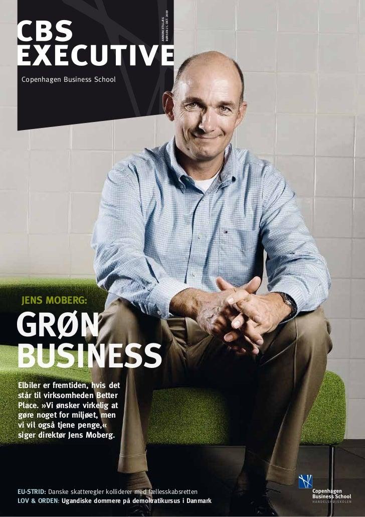 børsen 21. okt. 2009                                             annoncetillæg Copenhagen Business School JENS MOBERG:Grøn...